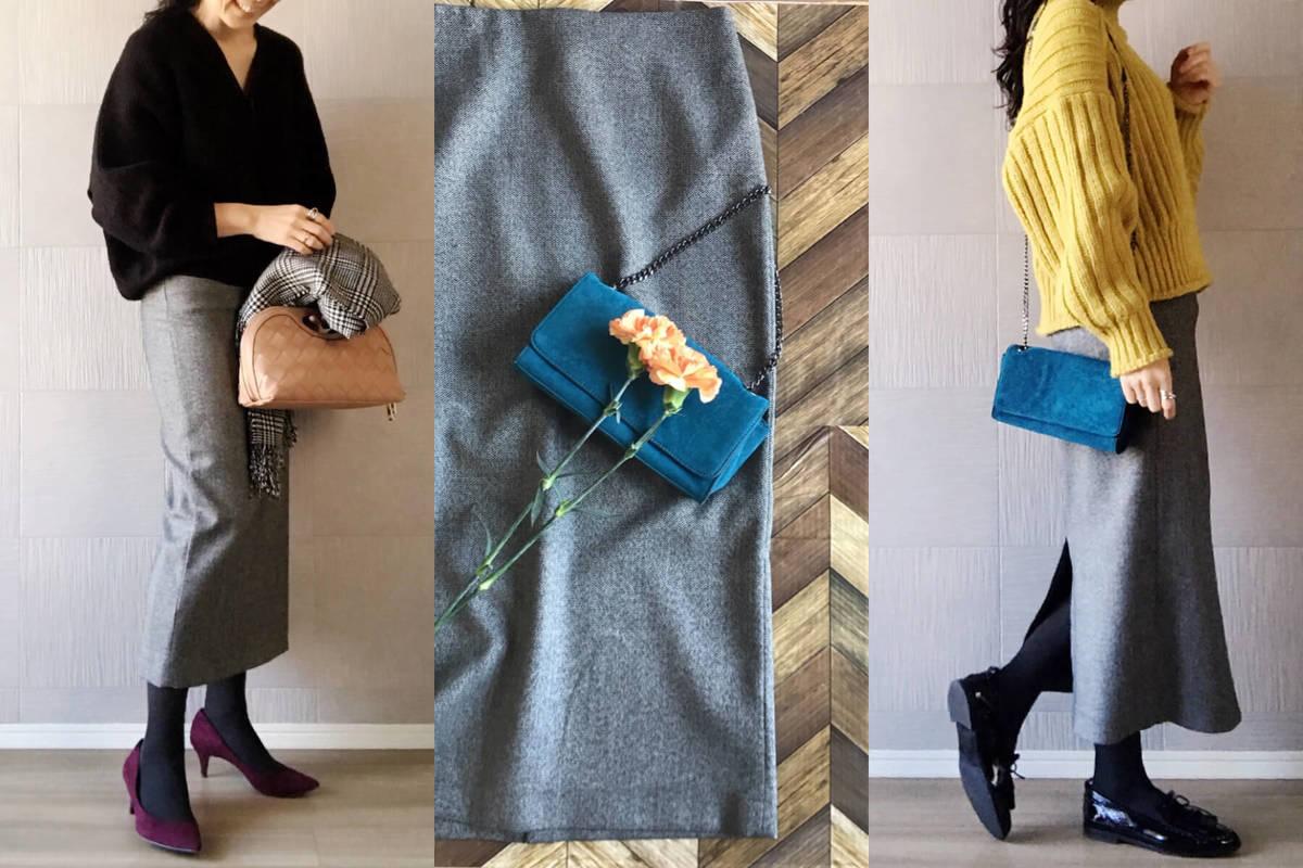 ZARAのロングスカート5990円で、重すぎない冬の大人コーデ