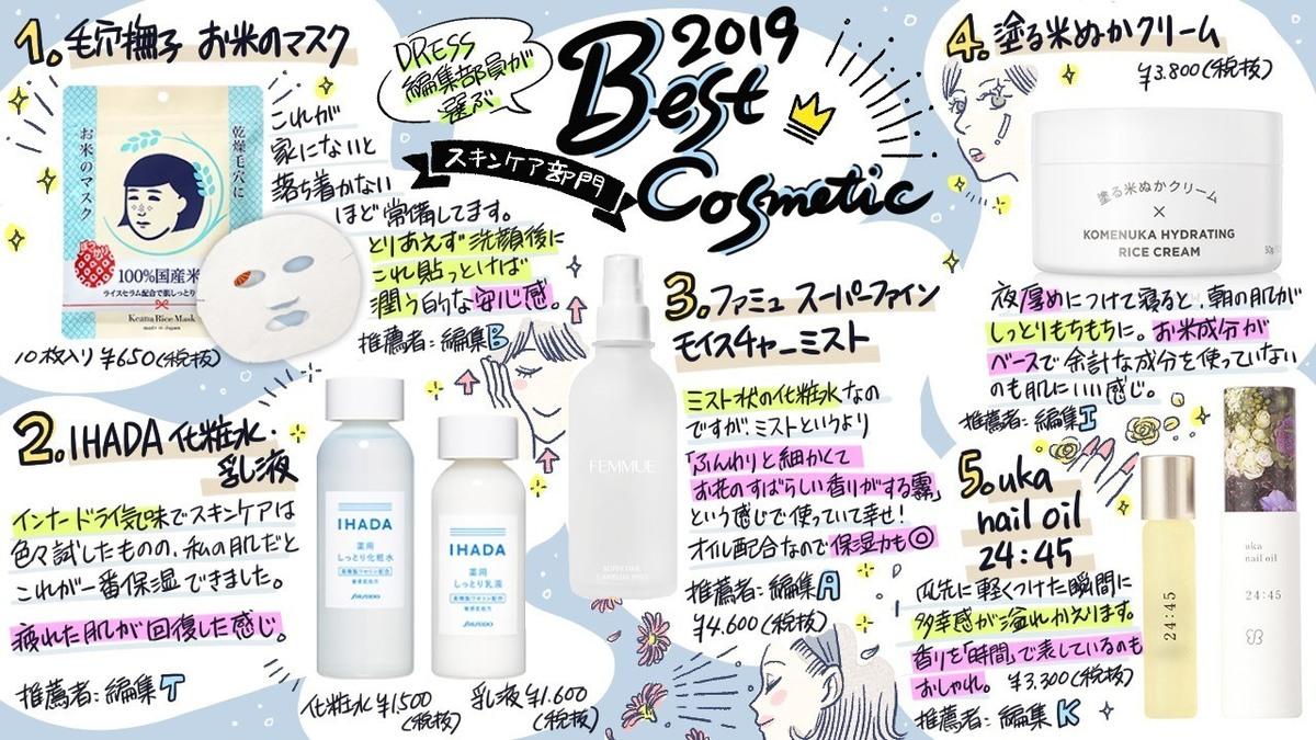 DRESS編集部ベストコスメ2019を一挙紹介!