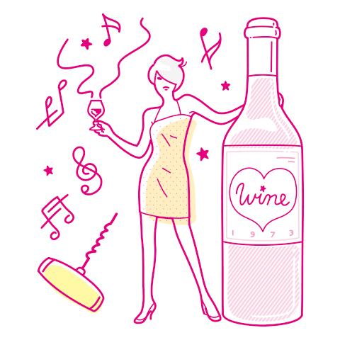 つかむ女は ワインを楽しむ♡