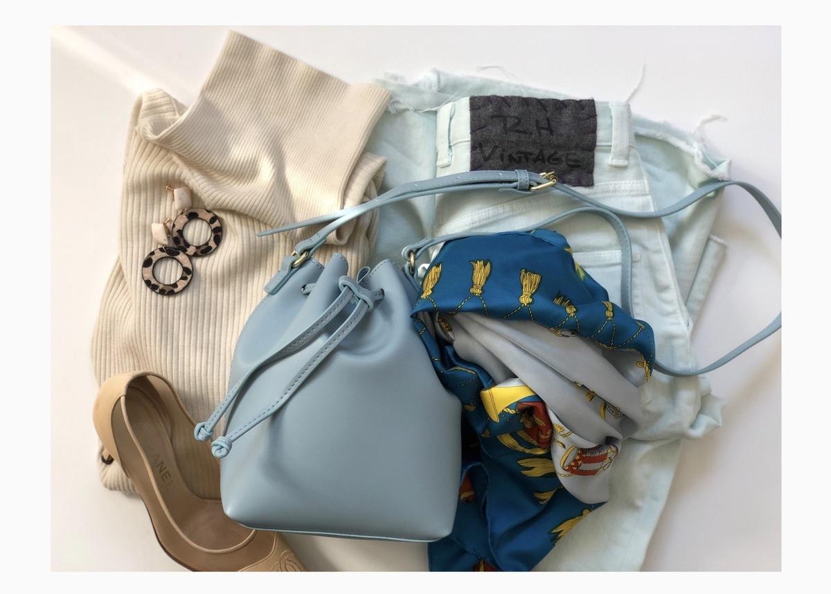 GU新作ドローストリングミニバッグがおすすめ! 大人上品コーデが作れます