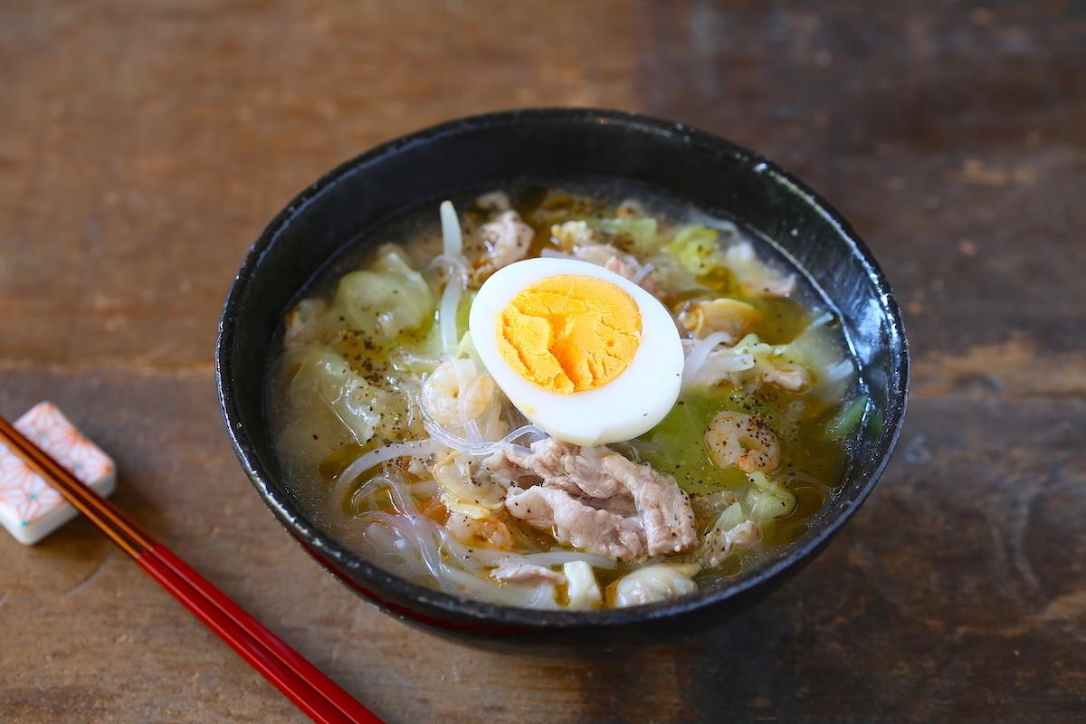 レンジで簡単! 栄養たっぷり春雨スープ「太平燕(タイピーエン)」
