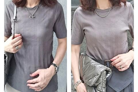 【UNIQLO】リブTシャツが高コスパ! 大人女性をきれいに見せてくれます