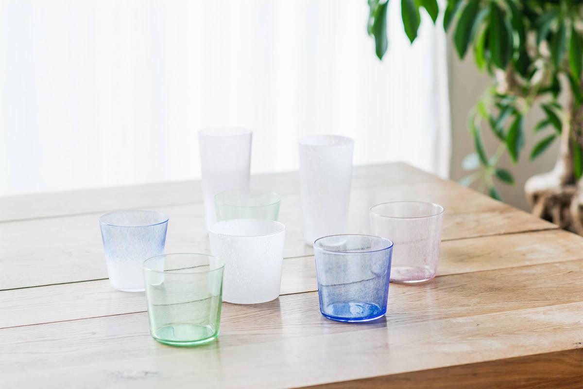 日本のガラス職人が丁寧に仕上げたKEYUCAオリジナル新商品「FREEZE」「BREEZE」シリーズ
