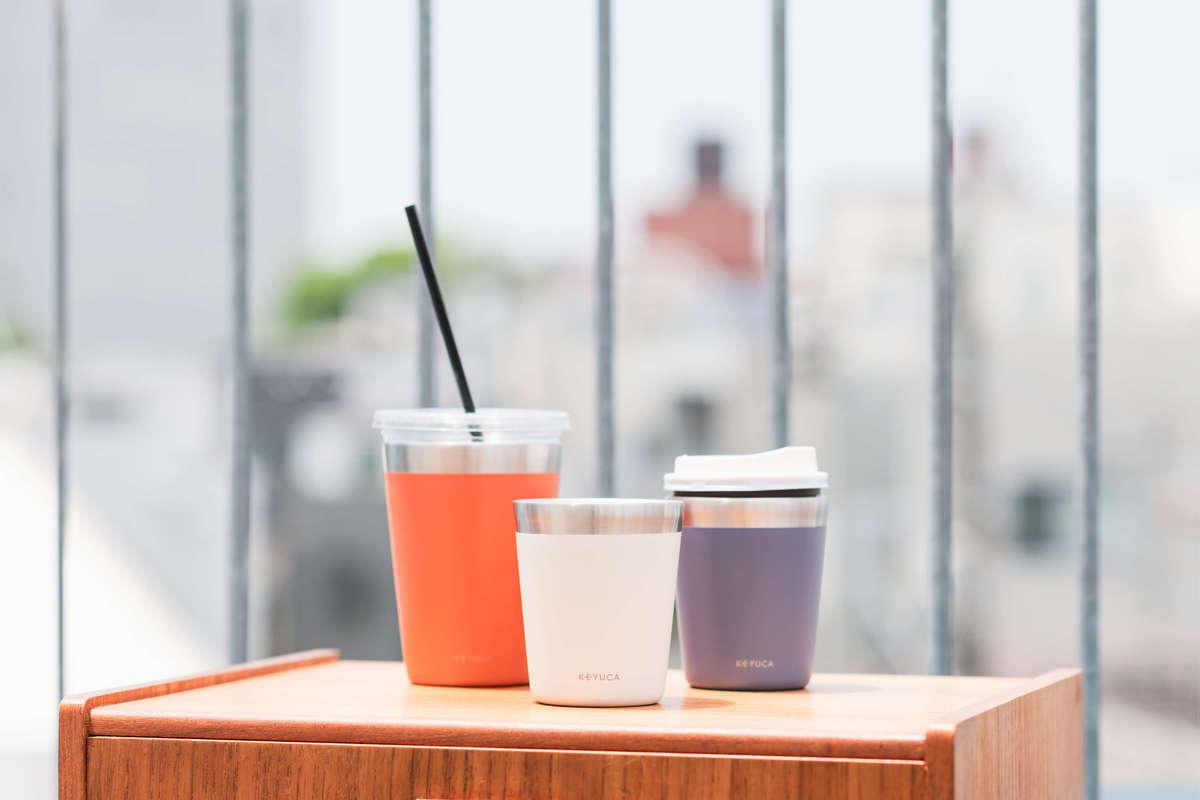 カップが結露せず、長時間冷たいまま飲める新発想2wayタンブラー 新商品「caffioステンレスタンブラー」