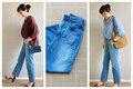 【GU】新色ハイウエストストレートジーンズで体型カバー&おしゃ見え! 40代女性が素敵に着こなすポイントとは?