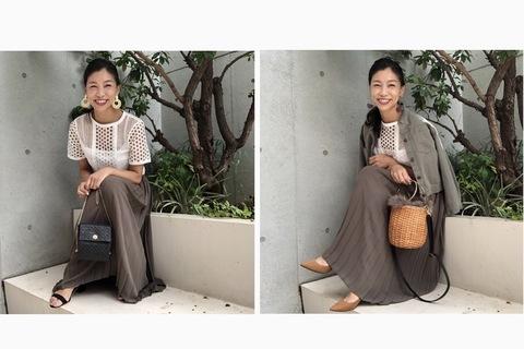 【UNIQLO】上品シフォンプリーツスカートを夏秋コーデで賢く使い分け!