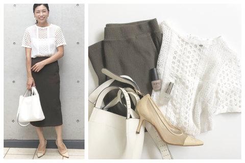 【UNIQLO】1990円リブスカートがシンプルで◎。キレイなシルエットが楽しめます!