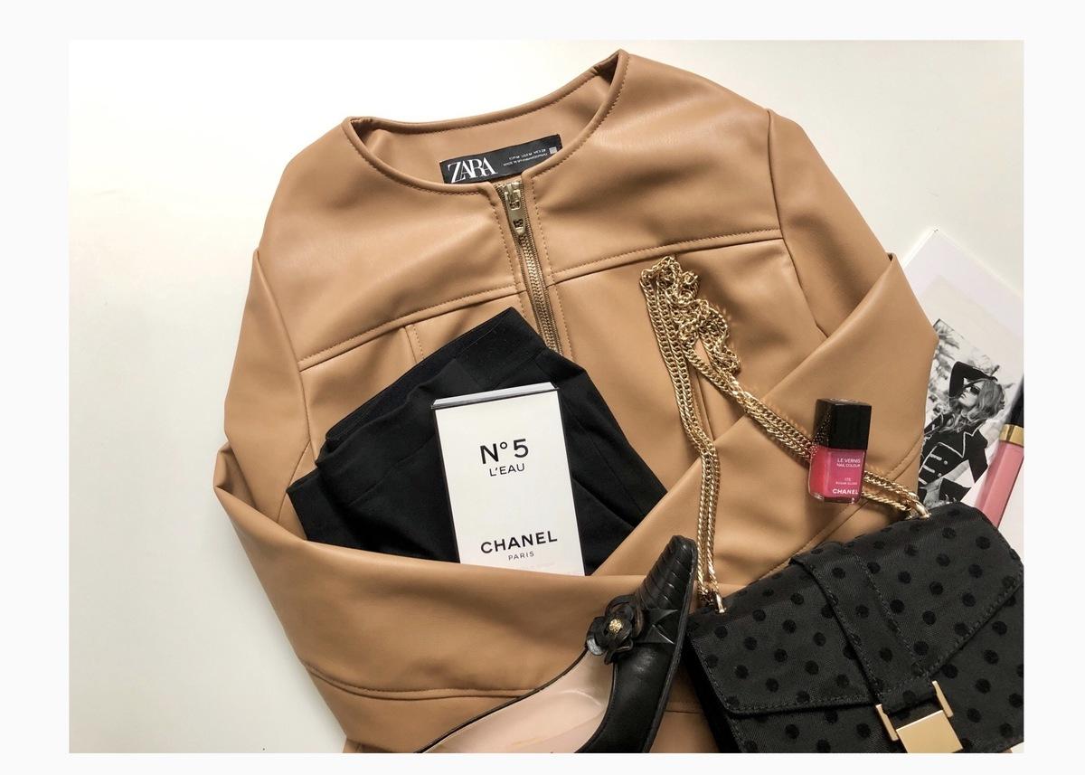 【ZARA】レザー調ライダースジャケットで作る! 大人上品な秋コーデ