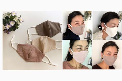 【GU】ファッションマスクはトップスに合わせた色味を選んでおしゃれ見え