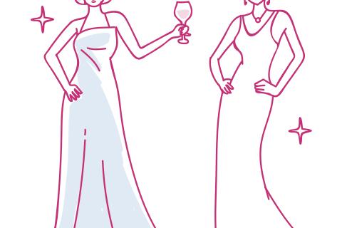 ロングドレスをキレイに着こなすために必要な3つのポイント。
