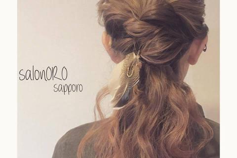 """【終了しました】札幌DRESS部企画 夏本番前にマスターしたい!「自分に似合うまとめ髪」""""ヘアアレンジレッスン""""~salon ORO sapporopresents~"""