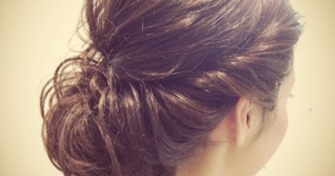ロングドレスに合う髪型