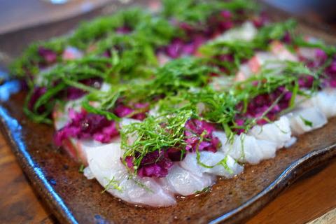 鯛のしば漬けカルパッチョ【簡単なのにほめられる!ホムパごはん #3】