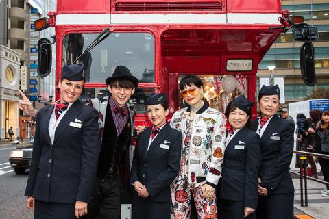 ブリティッシュ・エアウェイズ、東京でジェシーJとロンドンバス体験でロンドン観光をプロモーション