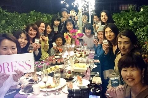 【静岡DRESS部】いちごづくしのハウスでナイトピクニック