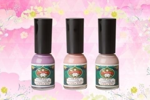 【セルフネイル】水性ネイル「胡粉ネイル」の春夏限定色が上品