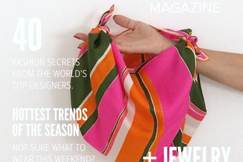 ビンテージスカーフを結ぶだけ。スカーフバッグの作り方【デキる女の決断クローゼット #21】
