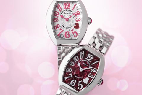 フランク ミュラーの「ハート トゥ ハートコレクション」に鮮烈なレッド&ピンクカラーが登場!