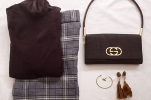 GUのタイトスカートを秋コーデに投入。旬なシルエットが叶います
