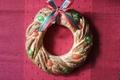 赤と緑が映えるクリスマスパンリース【天然酵母のパンレシピ#6】