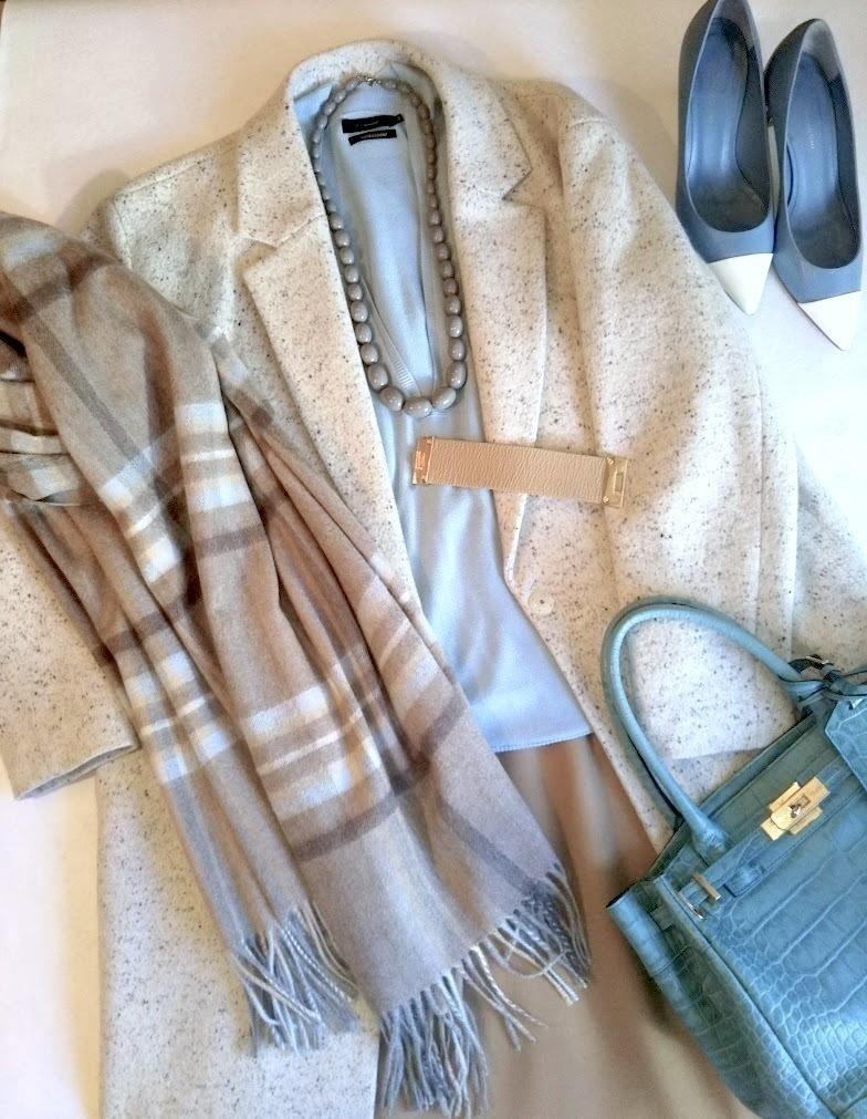 極寒でも優しげな雰囲気をプラス。カシミアストールで楽しむ冬の防寒コーデ