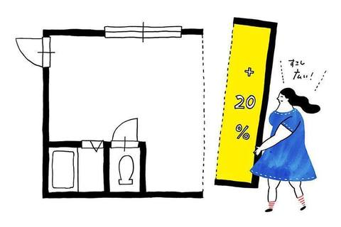 家で快適に働くために+20%広い部屋を選ぼう
