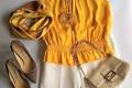黄×白で明るい気分に。夏を楽しむきれい色コーデ