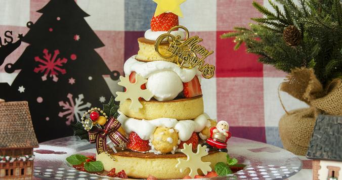 可愛すぎるクリスマスパンケーキ。テーマは北欧のおもちゃ