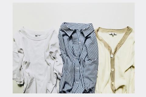 """胸が大きい人の服選びは、""""ハリ感のあるトップス""""がポイント"""