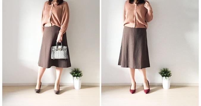 UNIQLOのジャカードフレアスカートが優秀! 990円でトレンド感&華奢見え