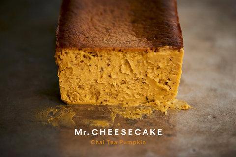 大人気チーズケーキ「Mr. CHEESECAKE」からパンプキン味が1日限定で登場!