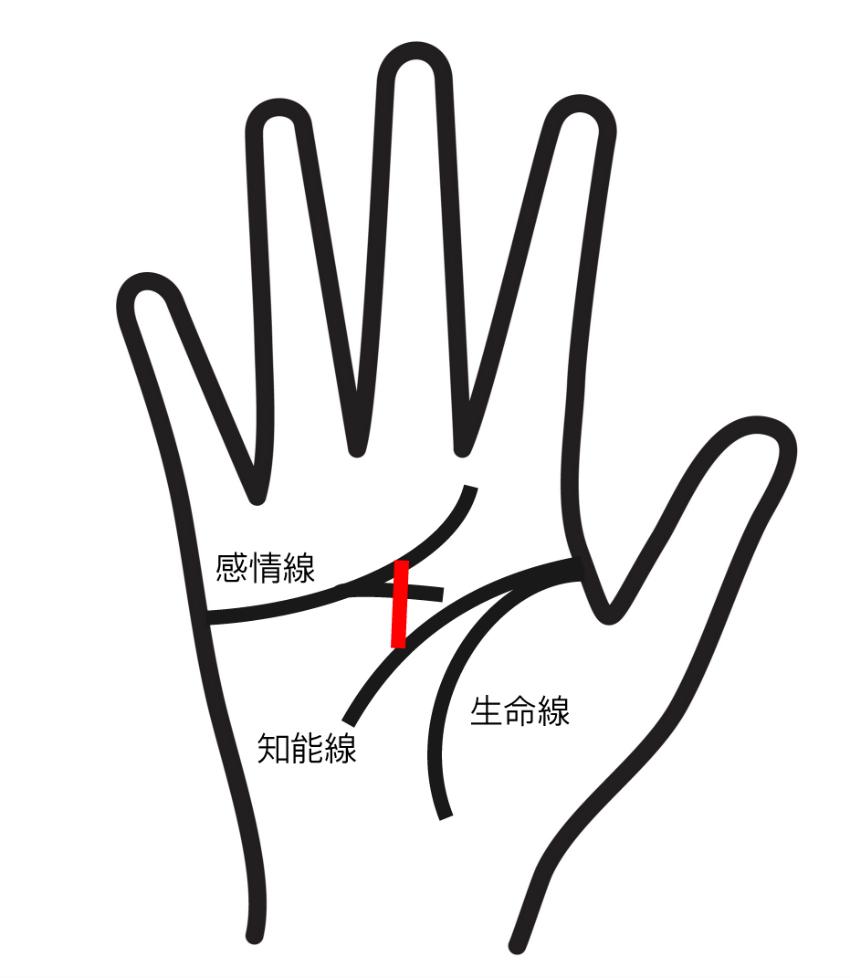 神秘十字線のある手相②