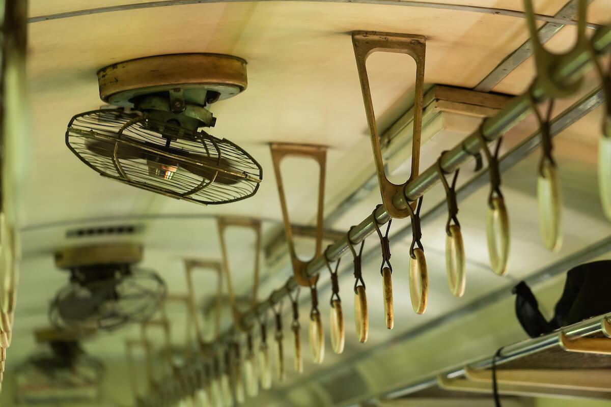 国鉄電車の扇風機