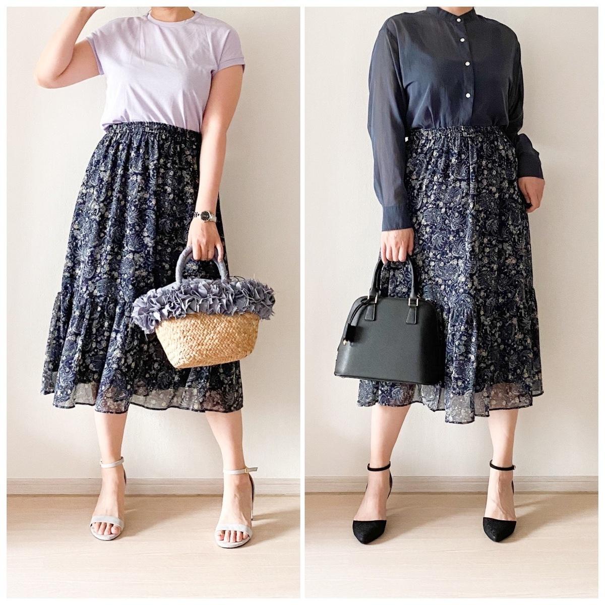 ティアード ロング スカート ユニクロ UNIQLOのシフォンティアードロングスカートは今が買いどき!
