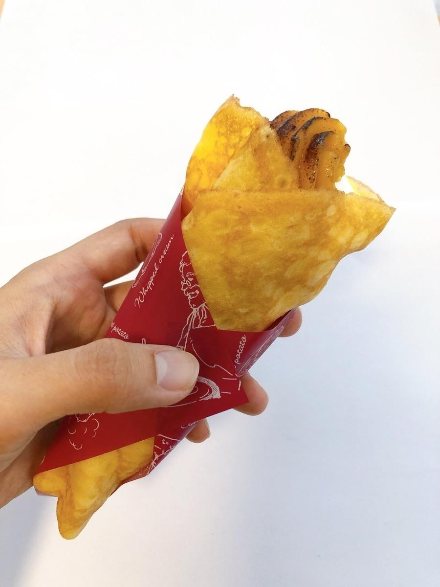 安納芋のクレープ