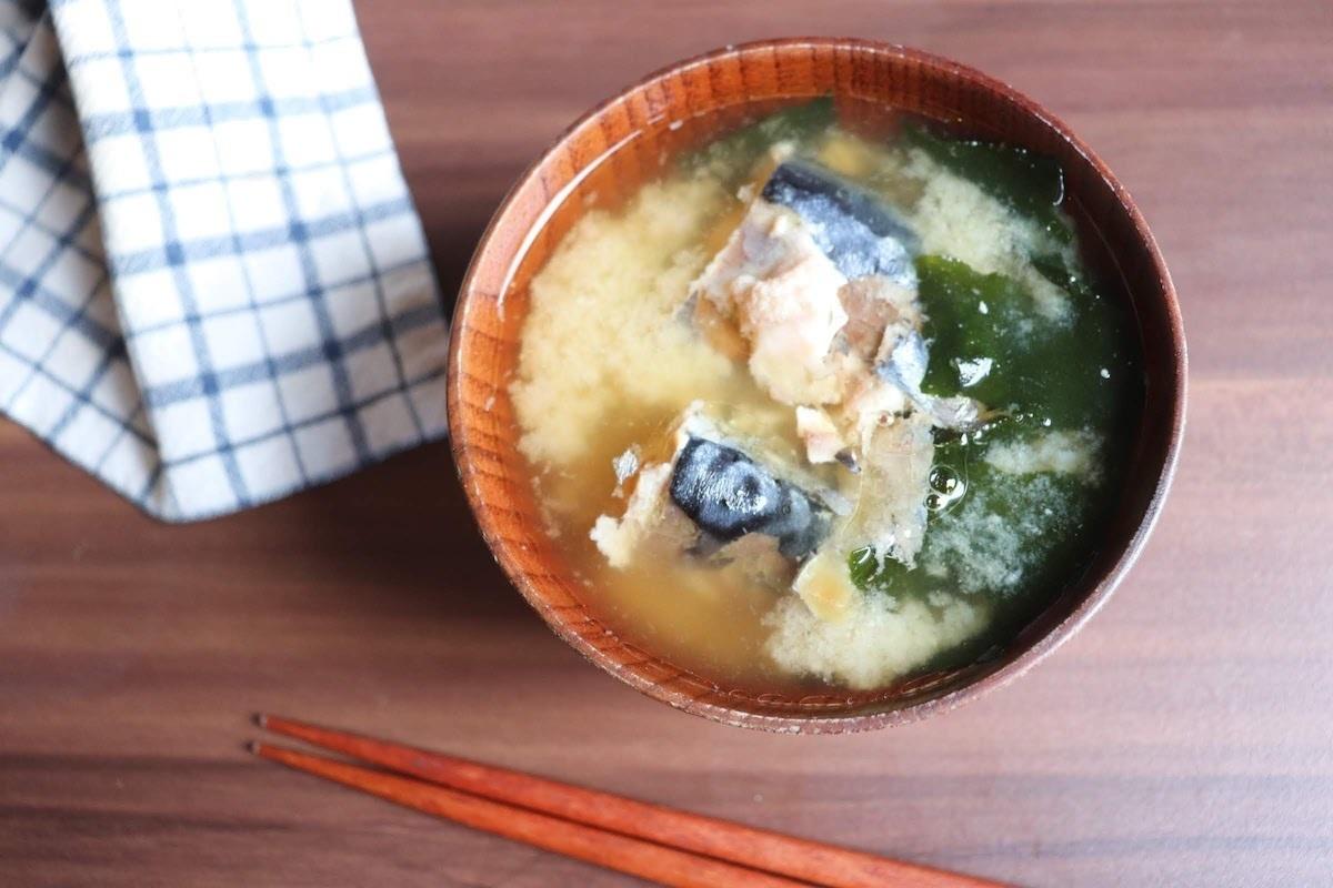 サバ缶のお手軽みそスープ