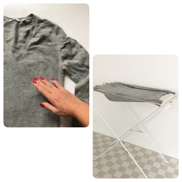 IKEAのタオル干しで平干し