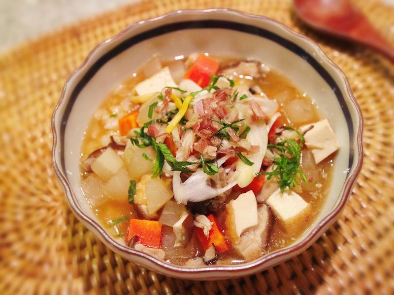 香味野菜たっぷりスープ