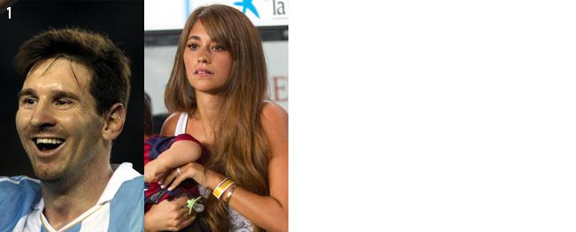 アルゼンチン代表「リオネル・メッシとパートナーのアントネラ」