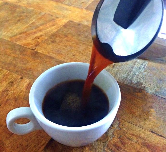 パリの朝食はコーヒー