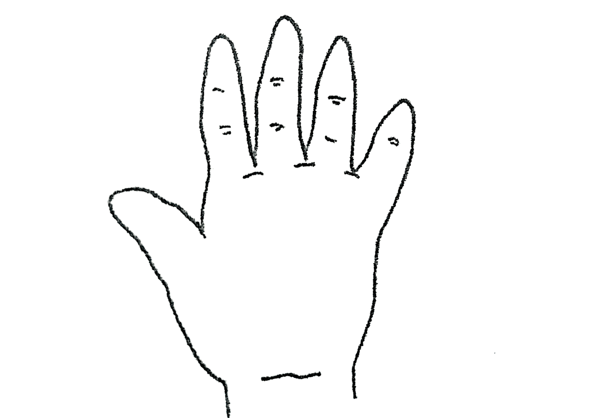 原始型の手