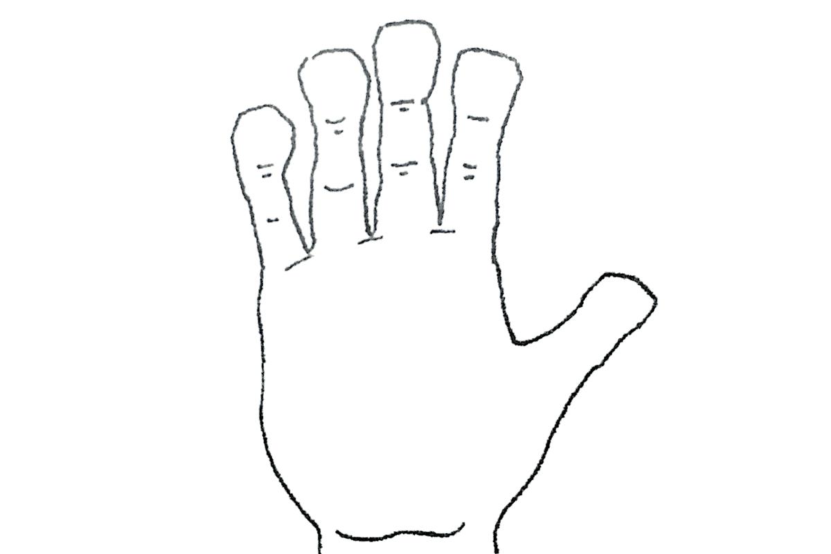 ヘラ型の手