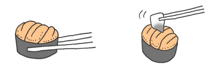 寿司の綺麗な食べ方