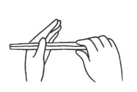 お箸の正しい取り方