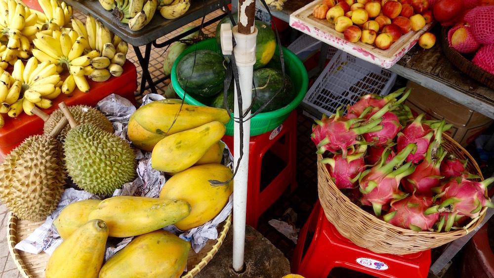 東南アジア フルーツ ドリアン パパイヤ ドラゴンフルーツ バナナ