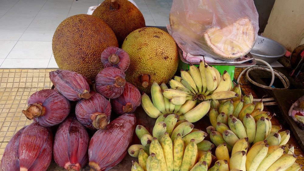 バナナの花とジャックフルーツ